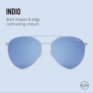 Quay Australia Indio Sunglasses silver/blue